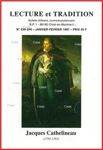 N°239/240 Janv/Fév 1997 - Jacques Cathelineau. Authenticité du Grand Testament de St Rémy