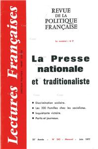 N° 242 Juin 1977 - La Presse nationale et traditionaliste