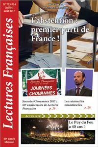 N° 723-724 - Juillet-août 2017 : L´abstention : premier parti de France !