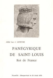 Panégyrique de Saint Louis, roi de France